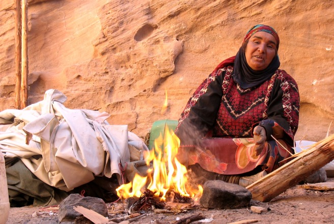 Humanity has many faces. A bedouin woman in the hills of Petra, Jordan.  © M Schranz