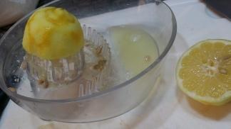Lemon juice with the fantastic Bauhaus-inspired squeezer