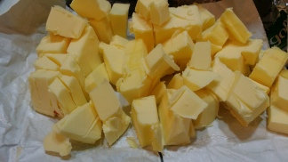 Cold butter cut up into chunks